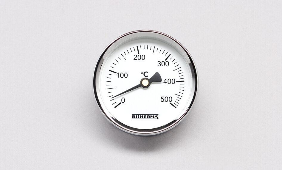 Ein praktisches, klassisches Zeigerthermometer für Vorwärmarbeiten