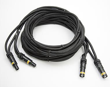 Leistungskabel schwarz 4x Leitung Luft